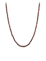 David Yurman Spiritual Bead Necklace With Red Tiger's Eye