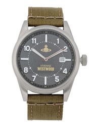 Vivienne Westwood Timepieces Wrist Watches Men Military Green
