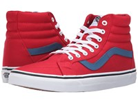 Vans Sk8 Hi Reissue Canvas Racing Red Blue Ashes Skate Shoes