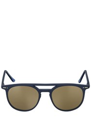 Italia Independent Round Acetate Mirrored Sunglasses