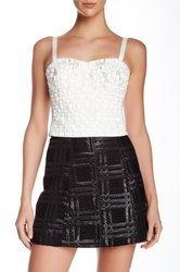 Phoebe Couture Beaded Crop Tank White