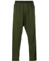 Haider Ackermann Drop Crotch Jogging Trousers Khaki Khaki Green Black
