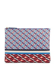 Jonathan Adler Double Diamond Zip Pouch Poppy