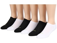 Hue Air Cushion 2 No Show 6 Pack Black 1 White Women's No Show Socks Shoes