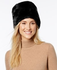 Nine West Faux Fur Cuff Cloche Black