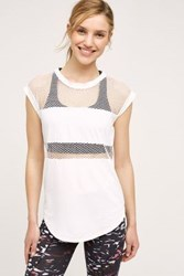 Anthropologie Mesh Studio Tee White