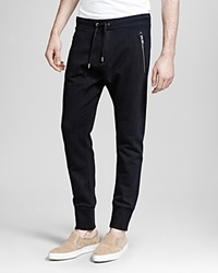 The Kooples Heavy French Terry Sweatpants Black