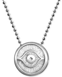 Alex Woo Little Faith Evil Eye Pendant Necklace In Sterling Silver