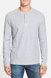 Men's Tommy Bahama 'Grand Thermal' Long Sleeve Henley Storm Grey Heather