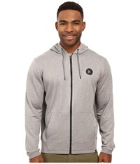 Hurley Dri Fit Disperse Zip Heather Grey Men's Clothing Gray
