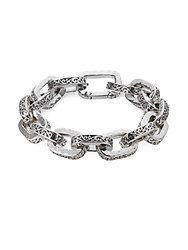 Lois Hill Scroll Pattern Sterling Siver Chain Bracelet Silver