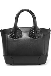 Christian Louboutin Eloise Small Spiked Textured Leather Tote Black