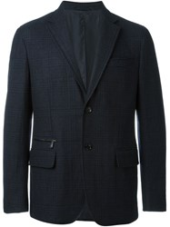Ermenegildo Zegna Checked Blazer Blue