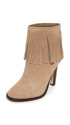 Joie Cambrie Fringe Booties Gesso