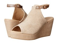 Cordani Fina Natural Nubuck Women's Wedge Shoes Tan