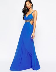 Forever Unique Kirsty Maxi Dress With Embellishment Blue