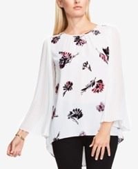 Vince Camuto Three Quarter Sleeve Printed Blouse New Ivory