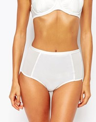 Lepel London Tamara Bridal High Waist Brief Ivory White