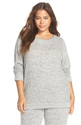 Plus Size Women's Make Model Crewneck Sweatshirt Grey Flannel Marl