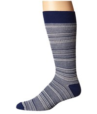 Richer Poorer Mizzen Blue Men's Crew Cut Socks Shoes