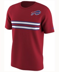 Nike Men's Buffalo Bills Color Rush Stripe T Shirt Red