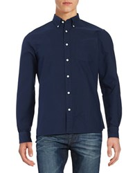 Brooks Brothers Racquet Embroidered Long Sleeve Shirt Navy