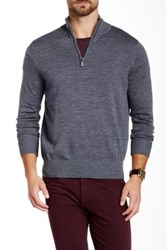 Tailorbyrd Su Quarter Zip Wool Sweater Gray