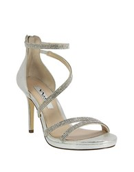 Nina Reed Strappy Sandals Silver