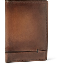 Berluti Burnished Leather Wallet Brown