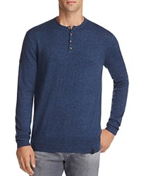 Superdry Orange Label Cotton Cashmere Grandad Henley Sweater Fisherman Twist