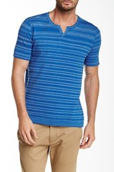 Autumn Cashmere Notched Collar Tee Blue