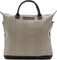 Want Les Essentiels Black And Off White Chevron Ohare Shopper Tote