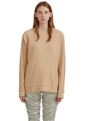 Baserange Jounich Round Neck Ribbed Sweater Beige