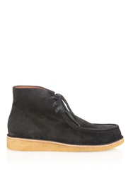 Tomas Maier Lace Up Suede Boots