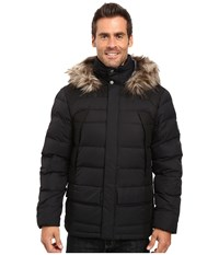 Spyder Garrison Parka Down Jacket Black Black Men's Coat