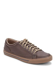 Cole Haan Leather Sport Sneakers Chestnut