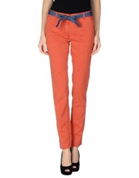 Incotex Red Casual Pants Rust