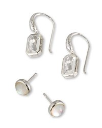 Ippolita Rock Candy Quartz Stud And Dangle Earring Set Silver