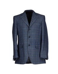 Michelangelo Suits And Jackets Blazers Men Slate Blue