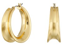 Lauren Ralph Lauren Concave Clickit Hoop Earrings Gold Earring
