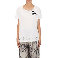 Marc Jacobs Women's Mouse Embroidered Cotton T Shirt White