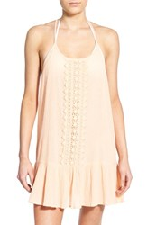 Junior Women's Rip Curl 'Love And Surf' Cover Up Dress Peach