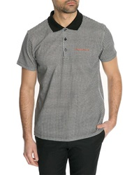Carven Gingham Pique Stitch Polo