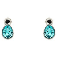 Cachet Forget Me Not Swarovksi Crystal Drop Earrings Silver Blue