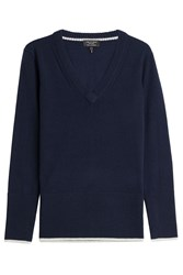 Rag And Bone Rag And Bone Cashmere V Neck Pullover Blue