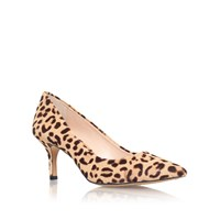 Vince Camuto Vivienne2 Mid Heel Printed Court Shoes Brown