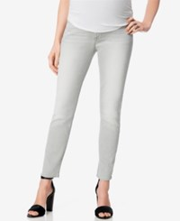 7 For All Mankind Light Grey Wash Maternity Skinny Jeans