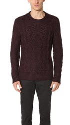 Club Monaco Alpaca Cable Sweater Carmine
