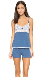 Fleurt Failling In Love Lace Camisole And Shorts Coronet Blue White