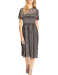 Miss Selfridge Short Sleeves Lace Midi Dress Multi